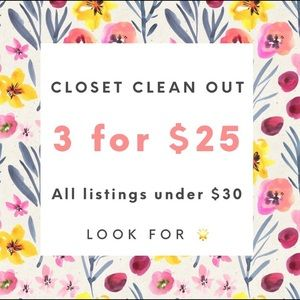 Bundle up 3 items with 🌟 for 25$!